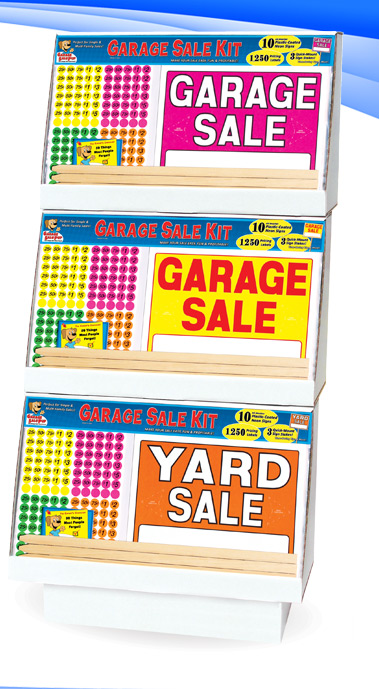 Garage Sale Sign Kits Display